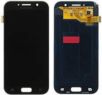 Дисплей (экран) + сенсор (тач скрин) Samsung SM-A520F Galaxy A5 (2017) black service (оригинал)