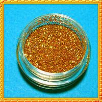 Декор Золотой  Песочек в банке (Глиттеры)