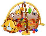 Коврик-манеж Львенок 63571 с шариками, фото 2