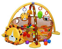 Коврик-манеж Львенок 63571 с шариками