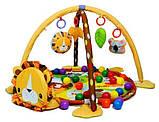 Коврик-манеж Львенок 63571 с шариками, фото 3