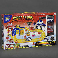 """Гараж ZY 644 (36/2) """"Robot Trains"""", 2 машины, в коробке"""