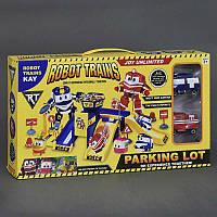 """Гараж ZY 643 (36/2) """"Robot Trains"""", 2 машины, в коробке"""