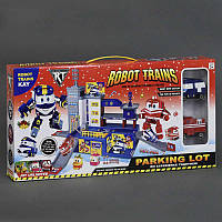 """Гараж ZY 647 (36/2) """"Robot Trains"""", 2 машины, лифт, в коробке"""