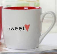 Керамическая белая чашка Сердце (Белая). Starbucks.
