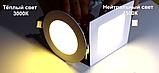 Светильник светодиодный Biom PL-S6 WW 6Вт квадратный теплый белый, фото 4