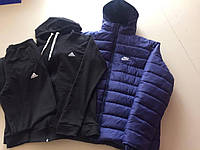Мужская зимняя куртка+спортивный костюм теплый