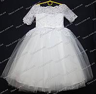 Детское платье бальное Королевское-1 (белое) Возраст 10-12лет., фото 1