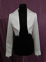 Свадебный пиджак/болеро с гипюром айвори