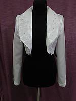 Свадебный пиджак/болеро с гипюром белый