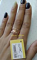 Золотое кольцо с алмазной огранкой , арт.2089
