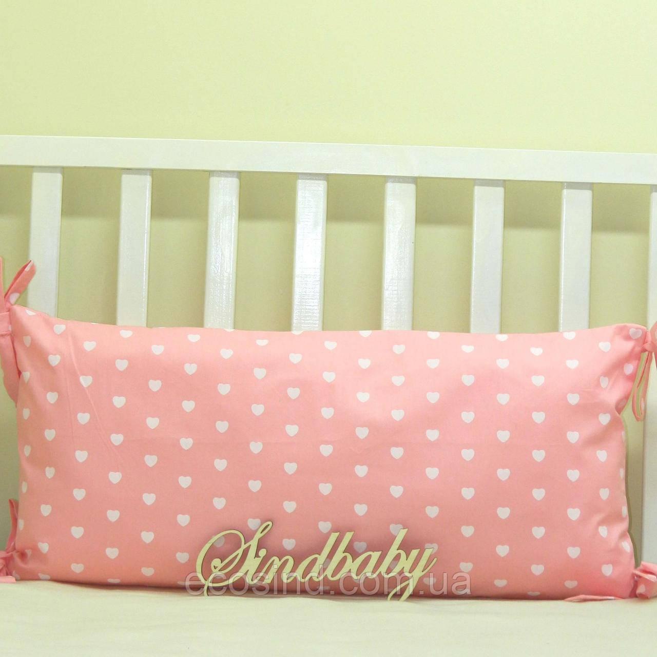 Бортики подушки в кроватку, Подушка сатин 30х60 -03
