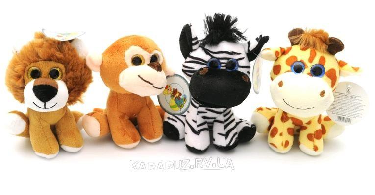 АКЦИЯ!!! Звірі  7702/12 (4 види: мавпочка, лев, зебра і жираф) 12см 53025