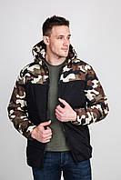 Куртка мужская осенняя из плотной плащевки камуфляж