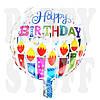 Фольгированный шарик Happy Birthday серебро, 44 см