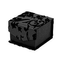 Подарочная коробочка для кольца и серьг на магните с бархатным узором