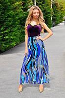 Женская юбка макси с ярким принтом, фото 1