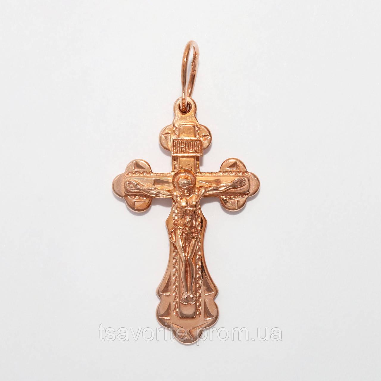 Серебряный крестик с позолотой ВКХ-119