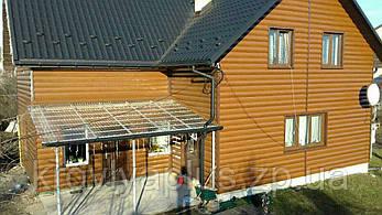 Металлосайдинг Блок-хаус, сайдинг металлический под бревно, под дерево, фото 2