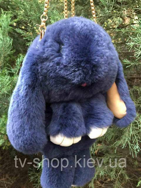 """Рюкзак-сумка """"Меховой кролик"""" №1 серый"""