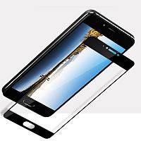 Защитное стекло Meizu m6 Note + салфетки !!  Black 2.5d