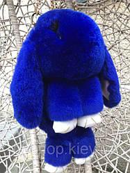 """Рюкзак-сумка """"Меховой кролик"""" №2 синий"""