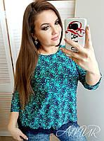 Женская блузка с кружевом (ботал)