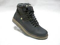 Зимние мужские кожаные ботинки Columbia конфорт
