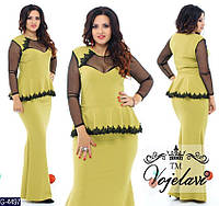 Женское платье с баской(ботал)