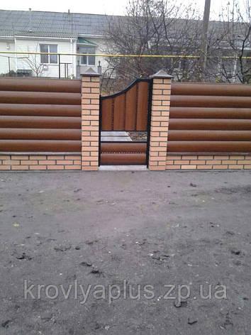 Забор из металлосайдинга Блок-хаус, под бревно, под дерево., фото 2