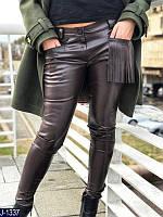 """Женские кожаные брюки """"Шоколад"""""""