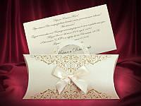 Оригинальные пригласительные на свадьбу в виде сумочки (арт. 3675)