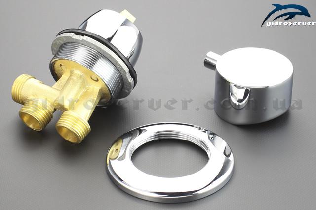 Смеситель, кран J - 7040 для гидромассажной ванны, джакузи вид изделия в разобранном варианте.