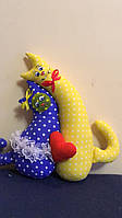 """Іграшка сувенір """"Коти нерозлучники"""" кольорові"""