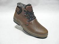 Зимние мужские кожаные ботинки columbia club shoes R1