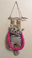 """Сувенірна іграшка """"Кіт кофейник"""" декупаж"""
