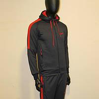 Спортивный костюм мужской Найк ткань лакоста зауженые штаны, фото 1
