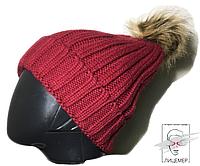 Женская зимняя шапка Claire`s с боломбоном помпоном