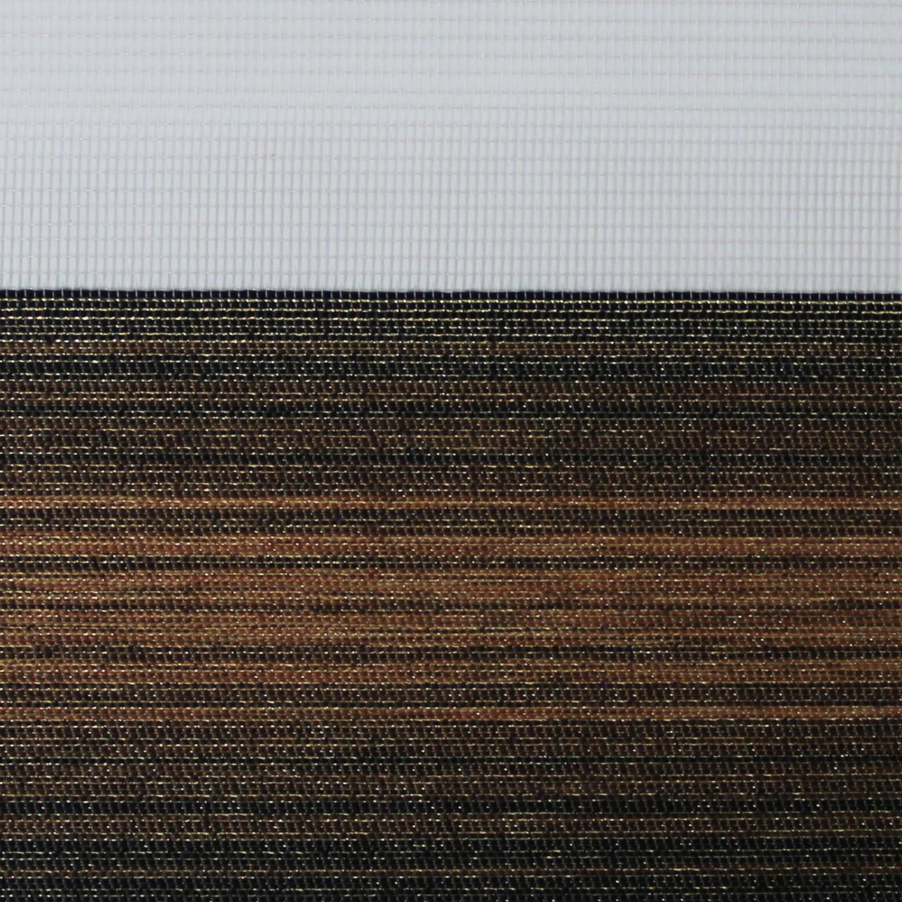 Рулонные шторы День-ночь Ткань Ницца Каштан
