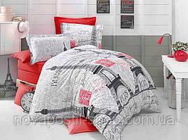 Постельное белье Париж Red из ранфорса премиум