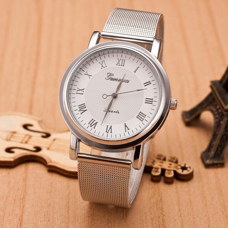 Женские часы Geneva Princess серебряные с белым, жіночий наручний годинник, кварцевые наручные часы