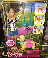 Набор Барби Прогулка с щенком Barbie Girls Walk and Potty Pup with Blonde Doll, фото 1