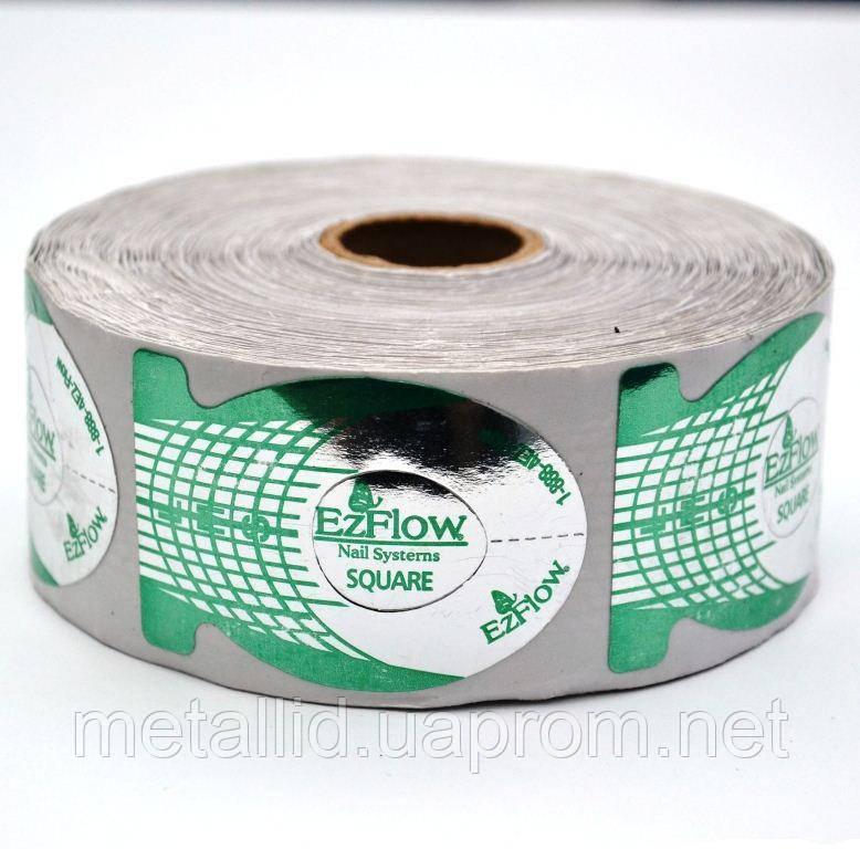 Формы для наращивания ногтей Ez Flow зеленые (500 шт)