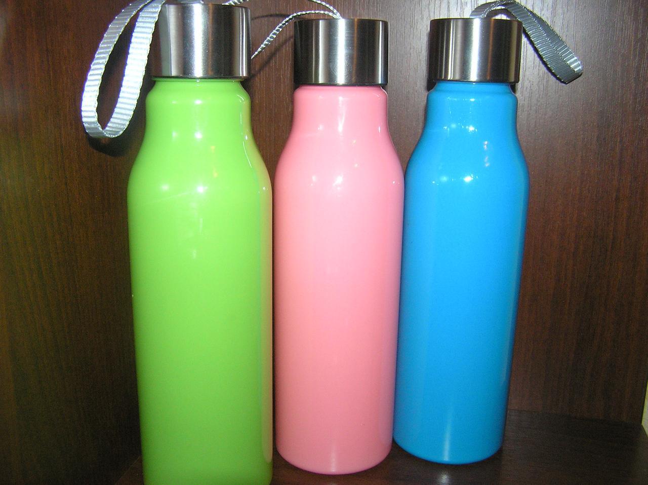 "Бутылка пластиковая ""Радуга"" 600мл.   Под логотип"