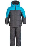 Зимний раздельный комбинезон Pacific Trail (США) серый с голубым для мальчика 2-3 года