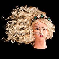 Учебный манекен для причесок, укладок и плетения PROFI №1-W  с натуральными волосами, белый