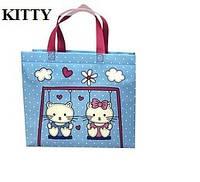 Эко-сумка  детская с замочком Kitty (32*27*10)