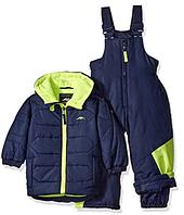 Зимний раздельный комбинезон Pacific Trail (США) синий с желтым для мальчика от 2 до 4 лет