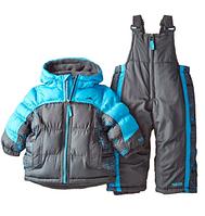 Зимний раздельный комбинезон Pacific Trail (США) серый с голубым для мальчика от 2 до 4 лет