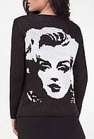 Классический женский жакет в стиле Мерлин Монро черного цвета